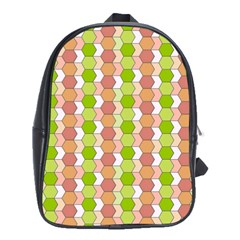 Allover Graphic Red Green School Bag (xl)