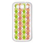 Allover Graphic Red Green Samsung Galaxy S3 Back Case (White) Front
