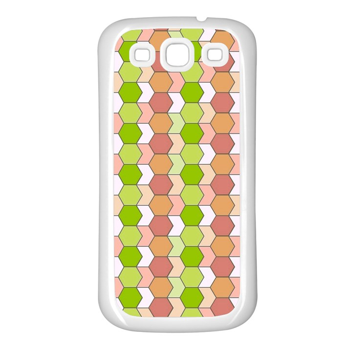 Allover Graphic Red Green Samsung Galaxy S3 Back Case (White)