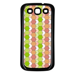 Allover Graphic Red Green Samsung Galaxy S3 Back Case (Black)