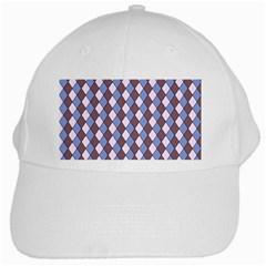 Allover Graphic Blue Brown White Baseball Cap