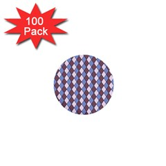 Allover Graphic Blue Brown 1  Mini Button (100 pack)