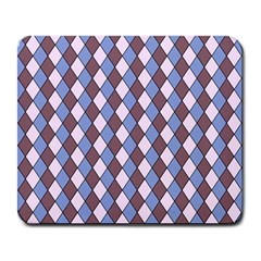 Allover Graphic Blue Brown Large Mouse Pad (rectangle)