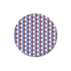 Allover Graphic Blue Brown Magnet 3  (Round)