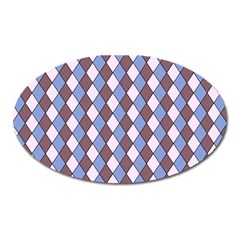 Allover Graphic Blue Brown Magnet (Oval)