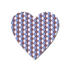 Allover Graphic Blue Brown Magnet (Heart)
