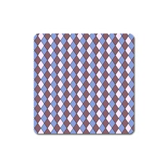 Allover Graphic Blue Brown Magnet (square)