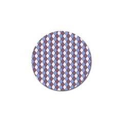 Allover Graphic Blue Brown Golf Ball Marker 10 Pack