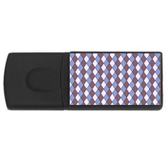 Allover Graphic Blue Brown 2GB USB Flash Drive (Rectangle)