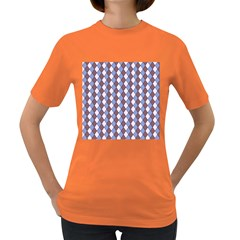Allover Graphic Blue Brown Womens' T-shirt (Colored)
