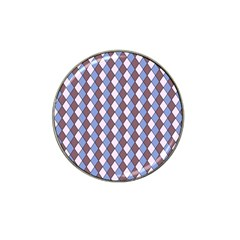 Allover Graphic Blue Brown Golf Ball Marker 4 Pack (for Hat Clip)