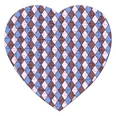Allover Graphic Blue Brown Jigsaw Puzzle (Heart)