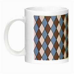 Allover Graphic Blue Brown Glow in the Dark Mug