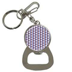 Allover Graphic Blue Brown Bottle Opener Key Chain
