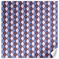 Allover Graphic Blue Brown Canvas 12  x 12  (Unframed)