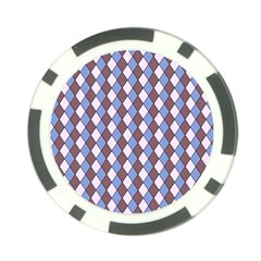 Allover Graphic Blue Brown Poker Chip