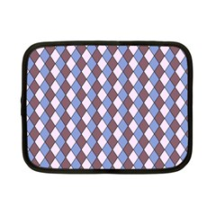 Allover Graphic Blue Brown Netbook Sleeve (Small)