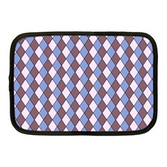 Allover Graphic Blue Brown Netbook Sleeve (medium)