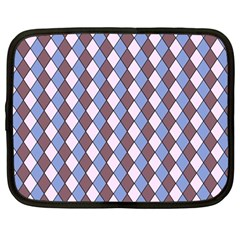 Allover Graphic Blue Brown Netbook Sleeve (large)