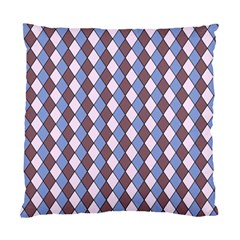 Allover Graphic Blue Brown Cushion Case (Single Sided)