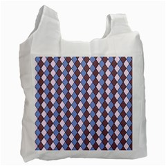 Allover Graphic Blue Brown Recycle Bag (Two Sides)