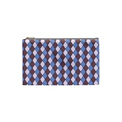 Allover Graphic Blue Brown Cosmetic Bag (Small)