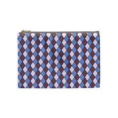 Allover Graphic Blue Brown Cosmetic Bag (Medium)