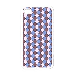 Allover Graphic Blue Brown Apple Iphone 4 Case (white)