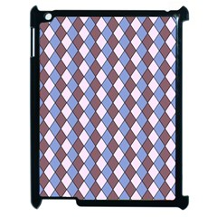 Allover Graphic Blue Brown Apple Ipad 2 Case (black)