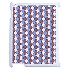 Allover Graphic Blue Brown Apple iPad 2 Case (White)