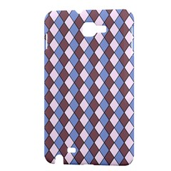 Allover Graphic Blue Brown Samsung Galaxy Note 1 Hardshell Case
