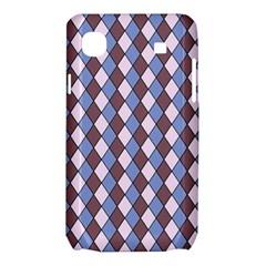 Allover Graphic Blue Brown Samsung Galaxy SL i9003 Hardshell Case