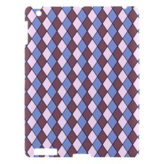 Allover Graphic Blue Brown Apple Ipad 3/4 Hardshell Case