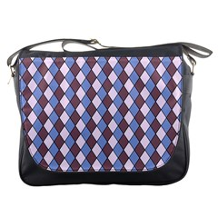 Allover Graphic Blue Brown Messenger Bag