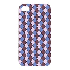 Allover Graphic Blue Brown Apple iPhone 4/4S Premium Hardshell Case