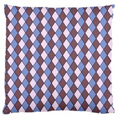 Allover Graphic Blue Brown Large Cushion Case (Two Sided)