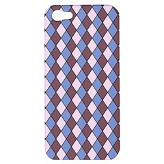 Allover Graphic Blue Brown Apple Iphone 5 Hardshell Case
