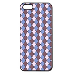 Allover Graphic Blue Brown Apple iPhone 5 Seamless Case (Black)