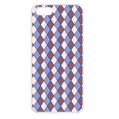 Allover Graphic Blue Brown Apple iPhone 5 Seamless Case (White)