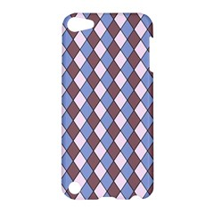Allover Graphic Blue Brown Apple iPod Touch 5 Hardshell Case
