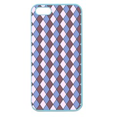 Allover Graphic Blue Brown Apple Seamless Iphone 5 Case (color)