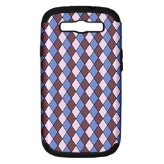 Allover Graphic Blue Brown Samsung Galaxy S III Hardshell Case (PC+Silicone)