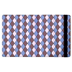 Allover Graphic Blue Brown Apple Ipad 3/4 Flip Case