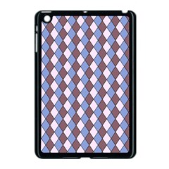 Allover Graphic Blue Brown Apple iPad Mini Case (Black)