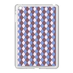 Allover Graphic Blue Brown Apple iPad Mini Case (White)