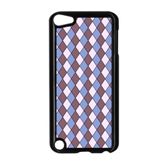 Allover Graphic Blue Brown Apple Ipod Touch 5 Case (black)