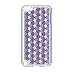 Allover Graphic Blue Brown Apple Ipod Touch 5 Case (white)