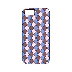 Allover Graphic Blue Brown Apple Iphone 5 Classic Hardshell Case (pc+silicone)