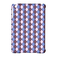 Allover Graphic Blue Brown Apple iPad Mini Hardshell Case (Compatible with Smart Cover)