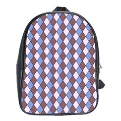 Allover Graphic Blue Brown School Bag (xl)